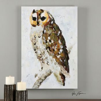 Uttermost Hoo Are You? Hand Painted Art