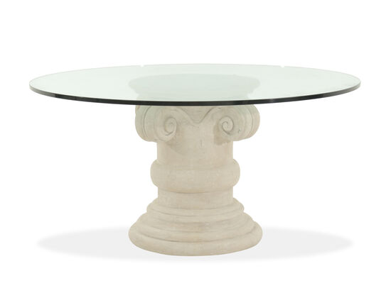 bernhardt campania oyster 60 round glass dining table mathis