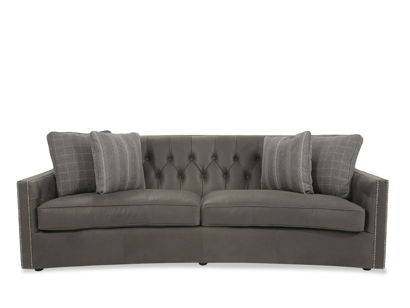 Bernhardt Candace Brown Leather Sofa Mathis Brothers