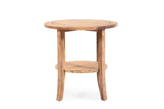World Source Vineyard Haven Teak Round End Table