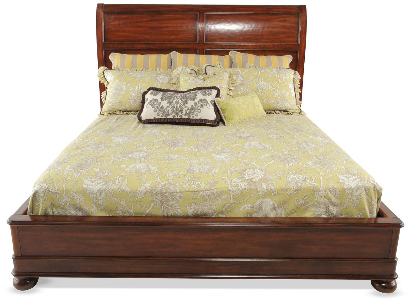 bernhardt vintage patina platform bed mathis brothers furniture