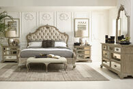 Bernhardt Campania Upholstered California King Weathered Sand Panel Bed