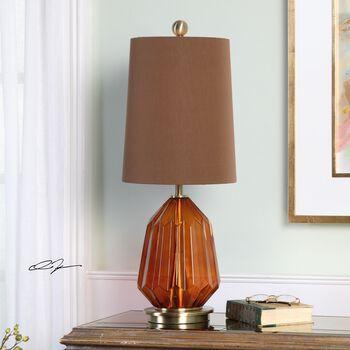 Uttermost Tomoka Amber Glass Lamp