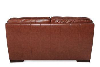 Simon Li Leather Stampede Chestnut Loveseat