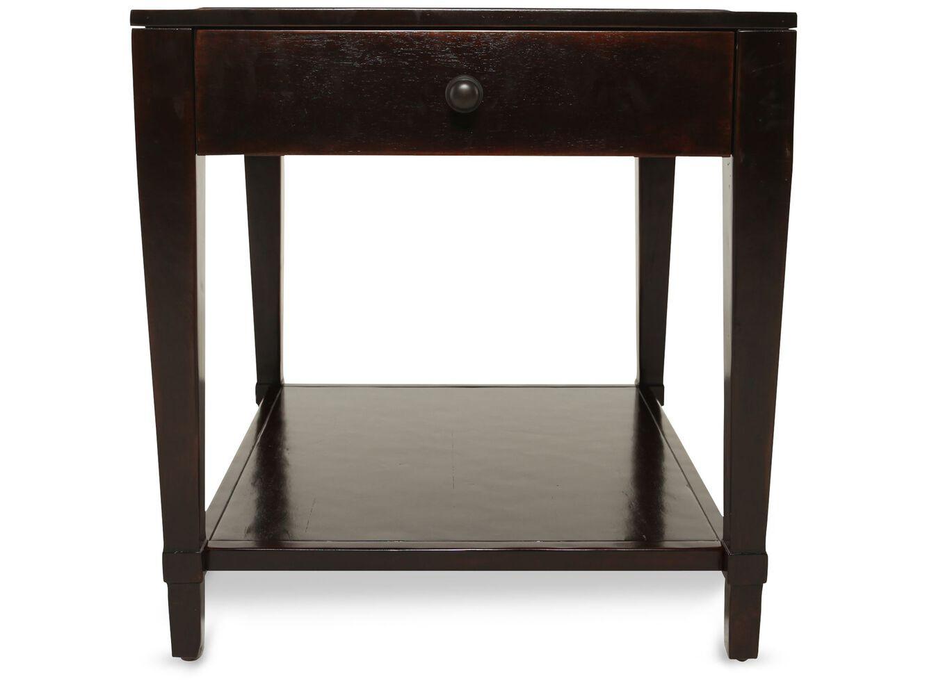 Bernhardt Vintage Patina End Table Mathis Brothers Furniture