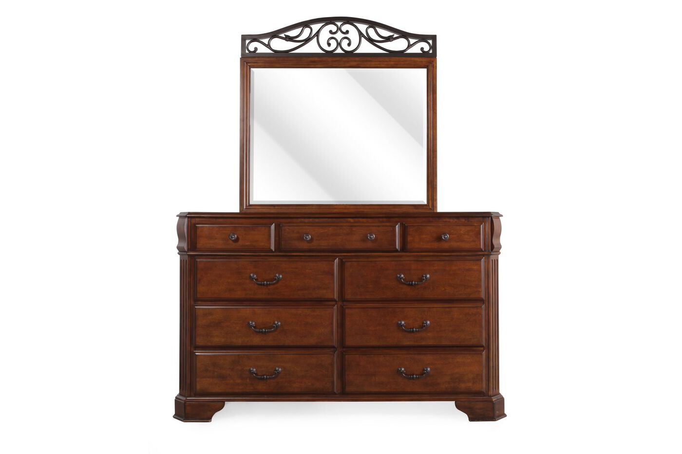 #61321E Ashley Wyatt Dresser And Mirror Mathis Brothers Furniture with 1400x933 px of Brand New White Dresser Ashley Furniture 9331400 pic @ avoidforclosure.info