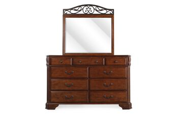 Ashley Wyatt Dresser and Mirror