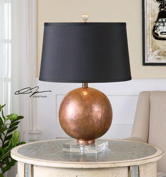 Uttermost Armel Oxidized Copper Table Lamp