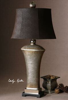 Uttermost Afton Antique Silver Table Lamp