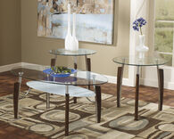 Ashley Avani Nickel Finish Occasional Table Set