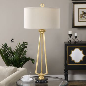 Uttermost Torano Antiqued Gold Lamp