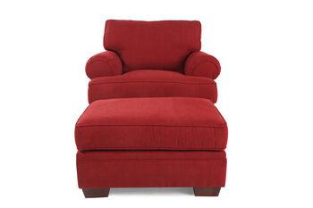 Broyhill Landon Red Chair & Ottoman
