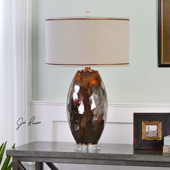 Uttermost Sabastian Bronze Glass Table Lamp