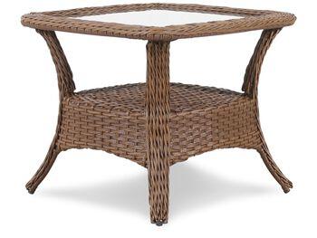 Agio Veranda Glass Top End Table