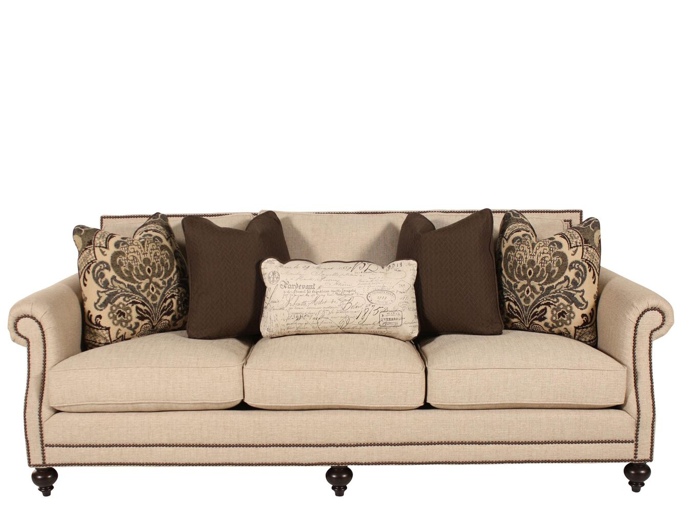 Bernhardt brae sofa mathis brothers furniture for Mathis brothers living room furniture