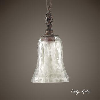 Uttermost Galeana Seeded Glass Mini Pendant