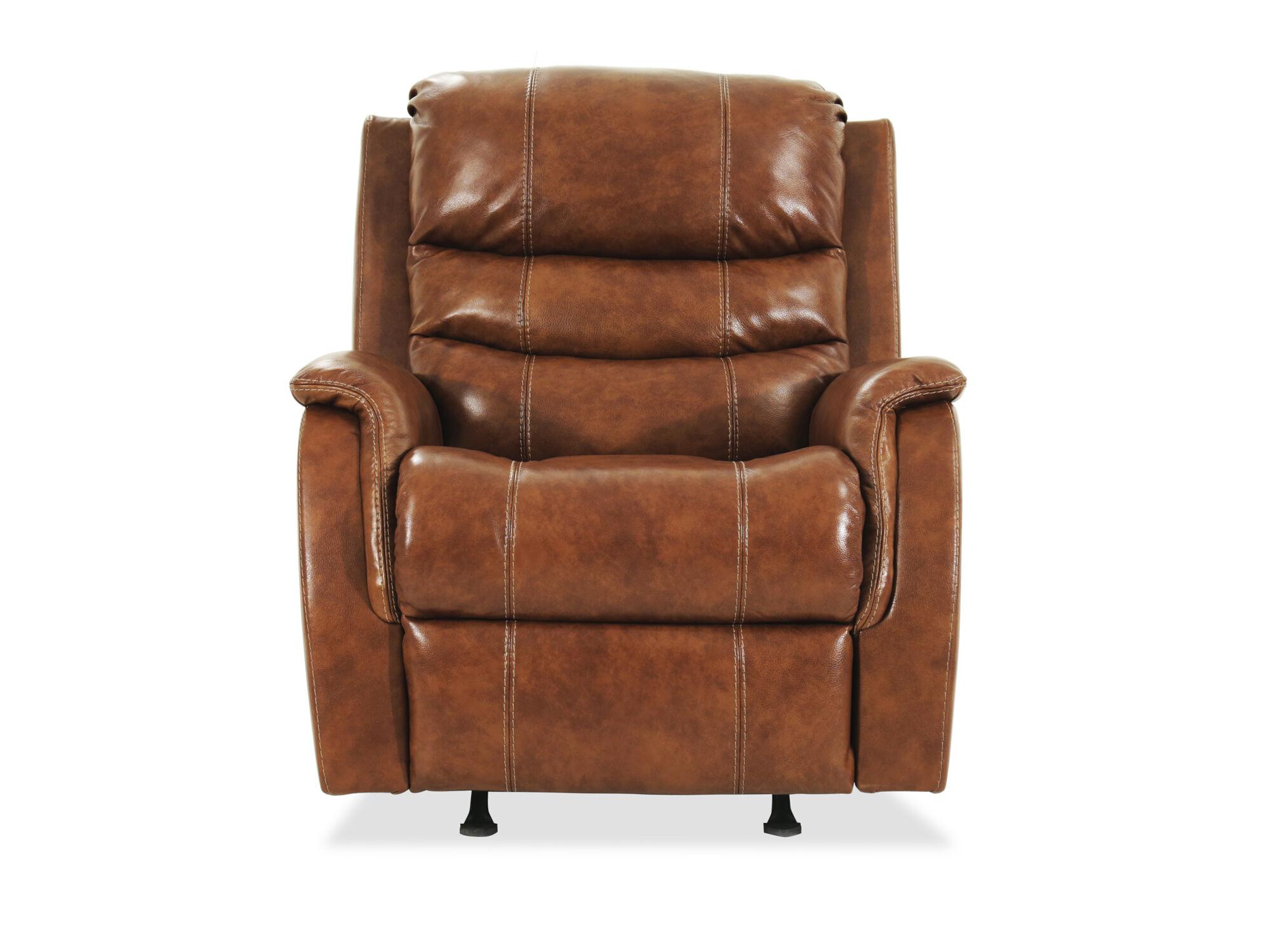 ashley metcalf nutmeg power recliner with adjustable headrest - Serta Recliners