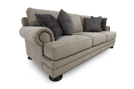 Bernhardt foster brown sofa mathis brothers furniture for Where to buy bernhardt furniture online