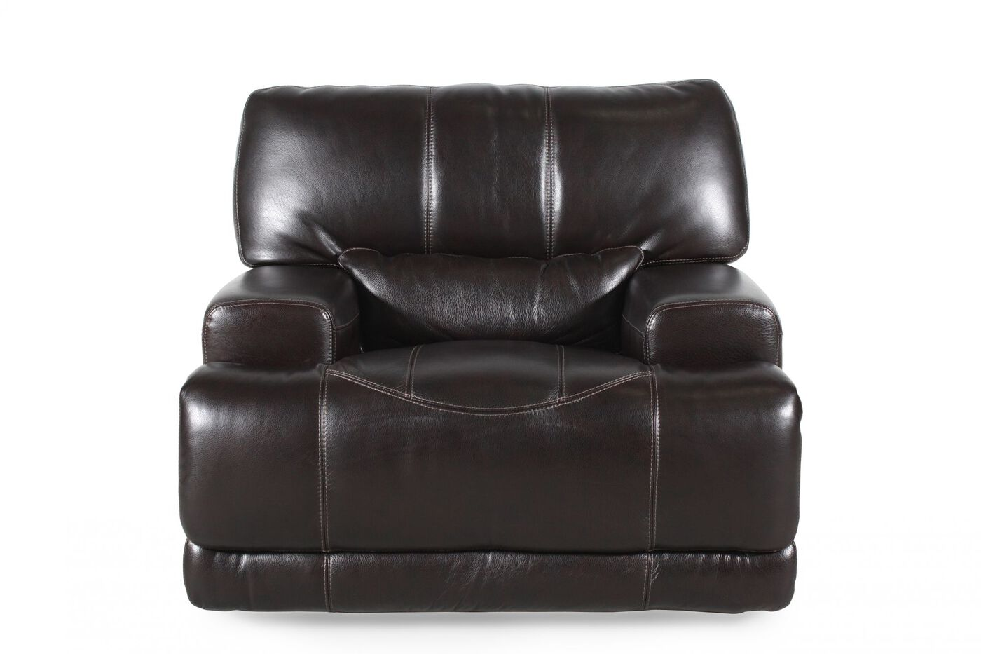 Simon Li Leather Longhorn Blackberry Recliner Mathis Brothers Furniture