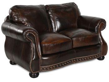 USA Leather Cowboy Loveseat