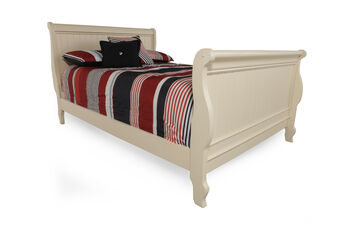 Legacy Summer Breeze Cottage White Twin Sleigh Bed