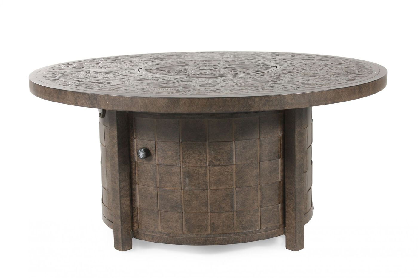 Castelle Riviera Patio Fire Pit Coffee Table Mathis Brothers Furniture