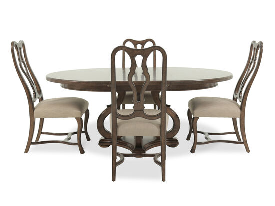 A R T Furniture Firenze II Dark Oak Five Piece Round Dining Table Set Mathi