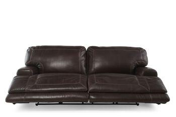 Simon Li Crown Light Walnut Power Reclining Sofa