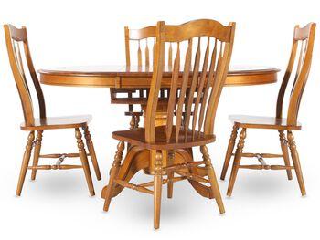 Winners Only Vintage Oak Five-Piece Dining Set