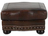 USA Leather Cowboy Ottoman