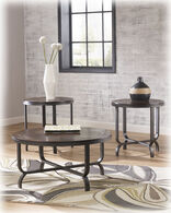 Ashley Ferlin Dark Brown Occasional Table Set