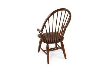 Broyhill Attic Rustic Oak Windsor Pair of Arm Chairs