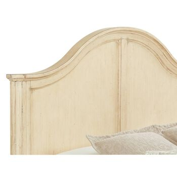 Stanley European Cottage Vintage White California King Panel Bed