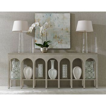 Stanley Crestaire Argent Brooks Console Table
