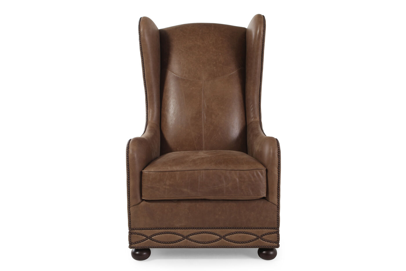 Bernhardt blaine leather chair mathis brothers furniture for Where to buy bernhardt furniture online