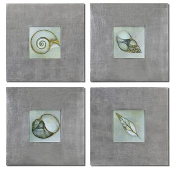 Uttermost Neptunes Garden Framed Art Set/4