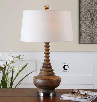 Uttermost Diega Solid Wood Table Lamp