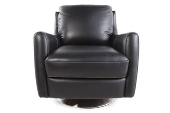 La-Z-Boy Xavier Black Leather Swivel Chair