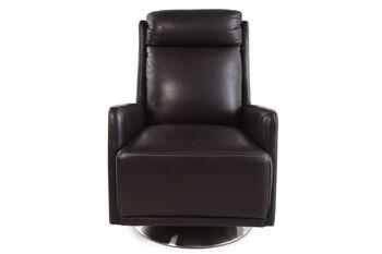 La-Z-Boy Zora Brown Leather Swivel Chair