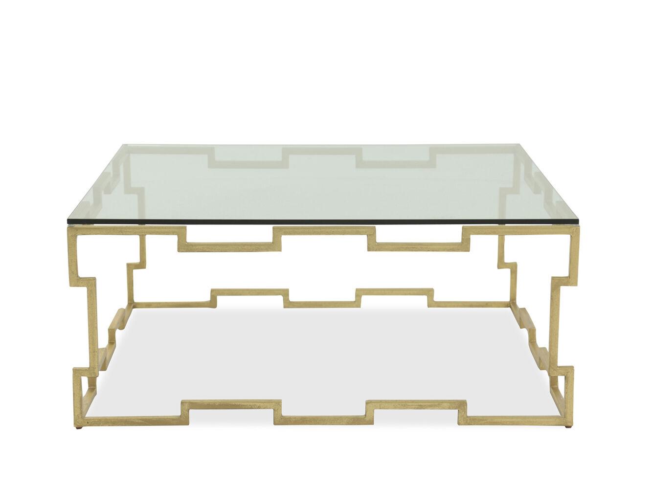 Bernhardt Bancroft Gold Leaf Square Cocktail Table