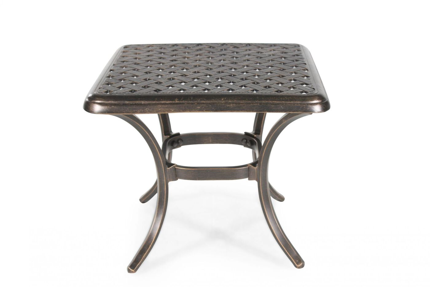 Agio heritage select square end table mathis brothers for Outdoor furniture end tables