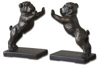 Uttermost Bulldogs Cast Iron Bookends, Set/2