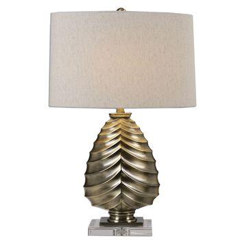 Uttermost Pieranica Antique Brass Lamp