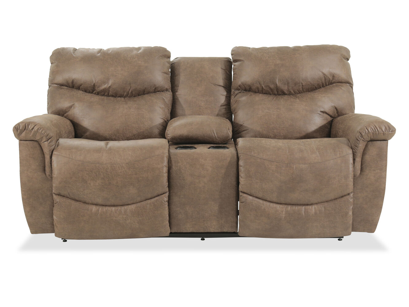 La Z Boy James Power Reclining Console Loveseat Mathis Brothers Furniture