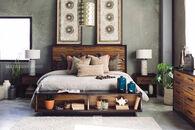 Ashley Stavani Black Queen Storage Bed