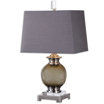 Uttermost Callias Olive-gray Table Lamp