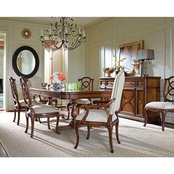 Stanley Arrondissement Heirloom Cherry Volute Arm Chair