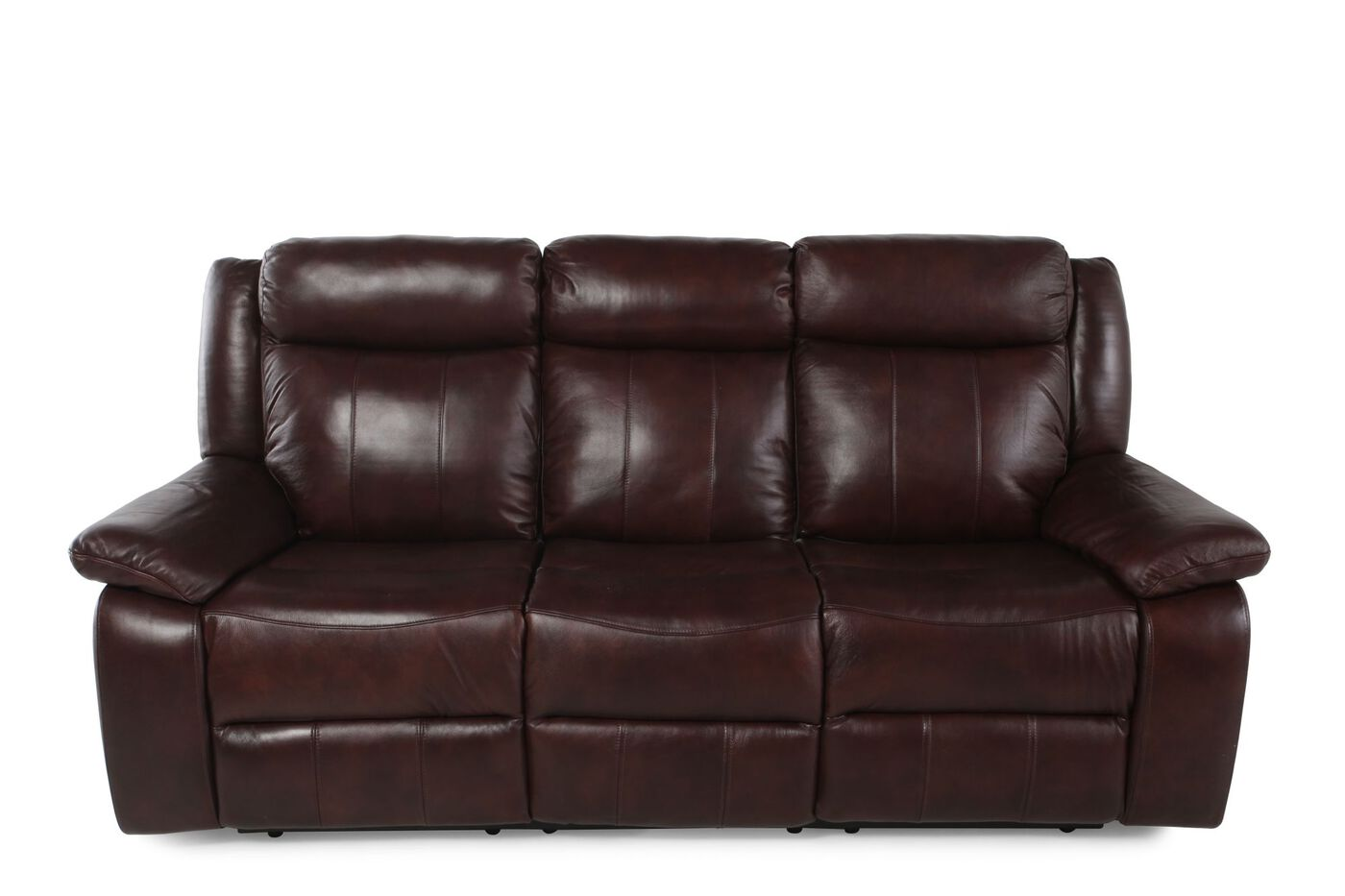 Boulevard brown three seat power reclining sofa mathis brothers furniture - Sofa reclinable ...