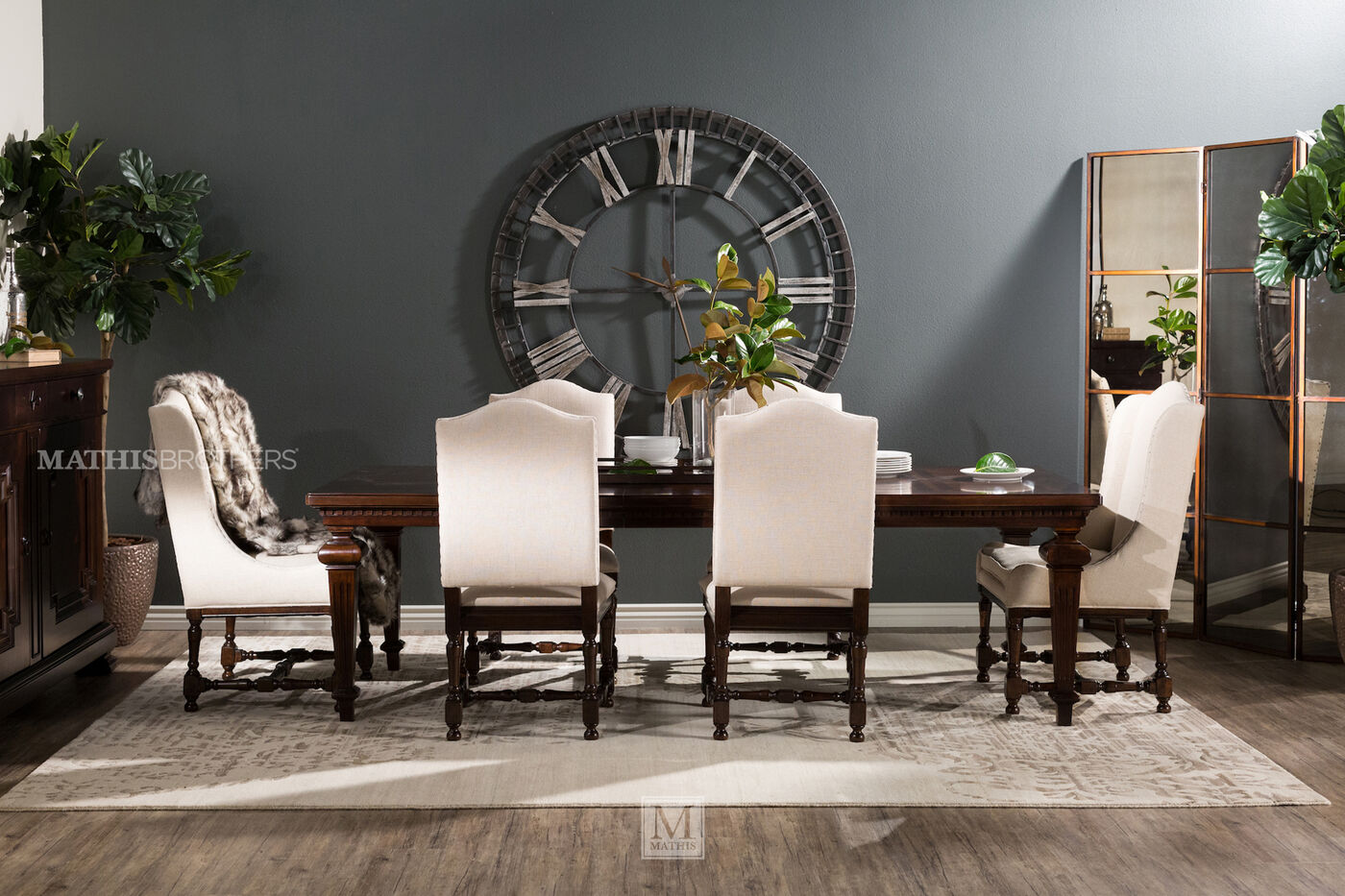 universal proximity seven piece dining set : seven piece dining set