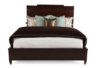 Hooker Skyline Queen Platform Sleigh Bed